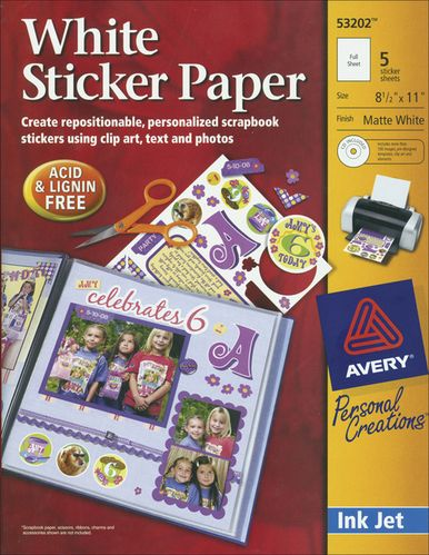 Ink Jet Sticker Paper With CD - Matte White