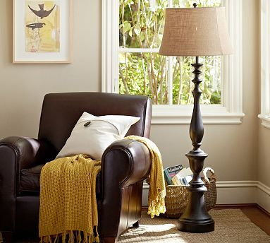 Brentwood Floor Lamp Base #potterybarn For office behind chair or for family room.
