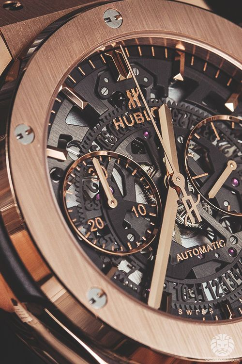 watchanish:  Hublot Classic Fusion Chronograph Skeleton in rose gold.More of our footage atWatchAnish.com.