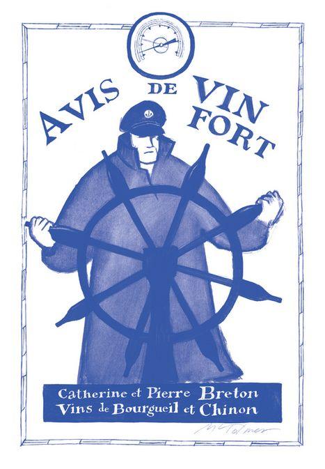 Affiche Avis de Vin Fort