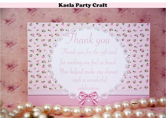 floral baby shower thank you card #floralbabyshower #floralbabyshowerideas