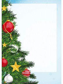 Papier à lettre de fête à imprimer, un beau sapin superbement décoré