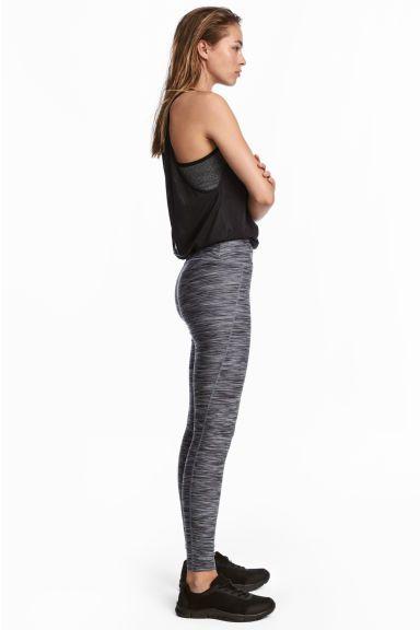 Sports tights - Grey marl - Ladies | H&M GB