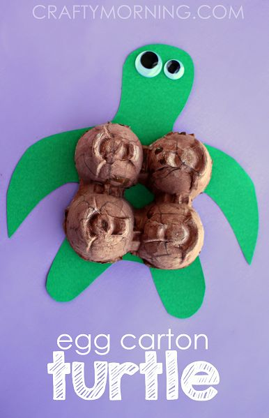 Egg Carton Turtle Craft for Kids - Crafty Morning