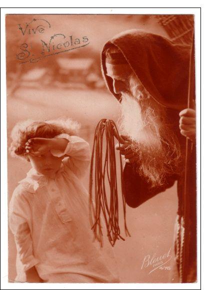 Carte Pere fouettard carte ancienne pour envoyer par La Poste, sur Merci-Facteur !  #SaintNicolas