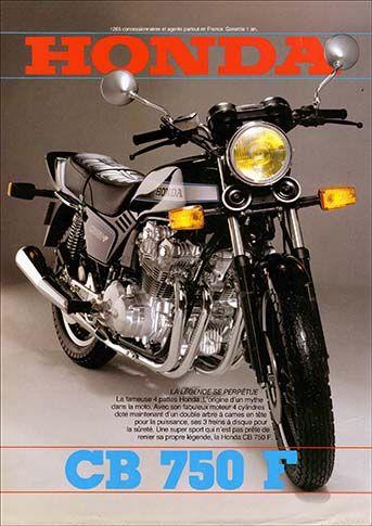 23191. - MOTORCYCLE - HONDA 1981 - CB 750F -La Legende perpétue  - 29x41-.