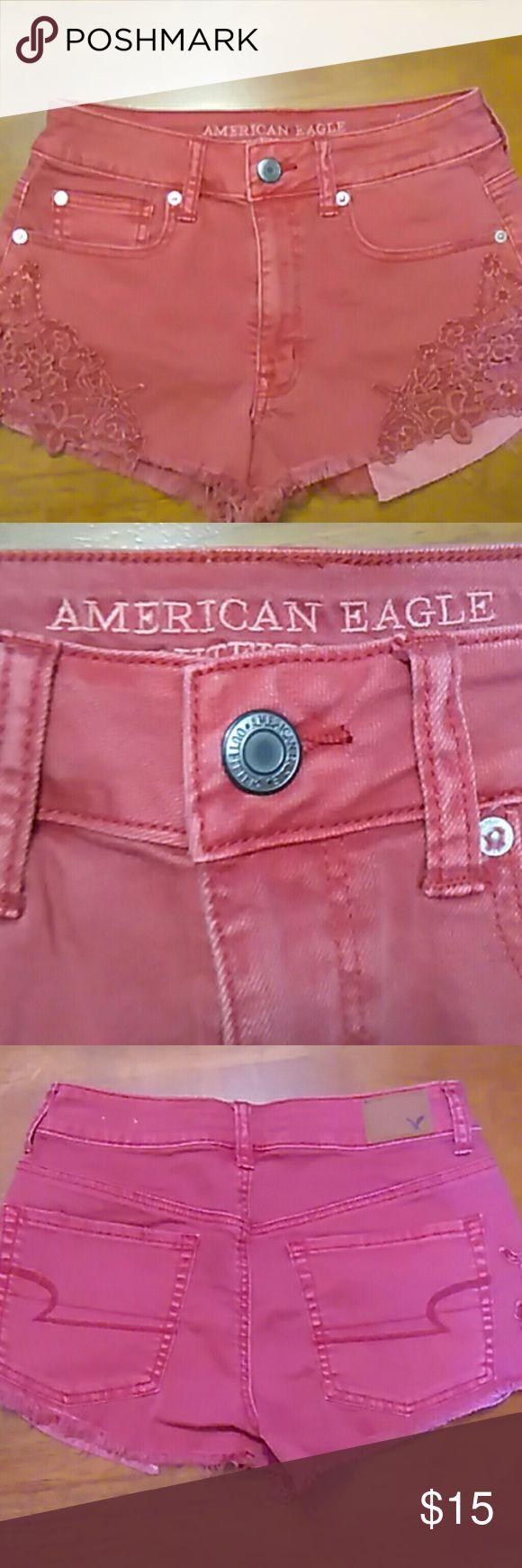 American Eagle Outfitters Hi - Rise Festival Excellent condition American Eagle Outfitters Shorts Jean Shorts
