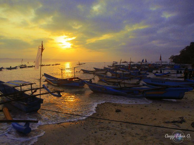 Beautiful Sunrise in Pangandaran Beach