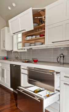 Something like this in white.    Kitchen Photos Backsplash Design, Pictures, Remodel, Decor and Ideas - page 28