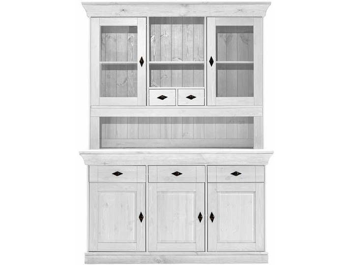 Skandinavischer Buffetschrank In Weiss Kiefer Teilmassiv Wood Display China Cabinets Hutches White Display Cabinet