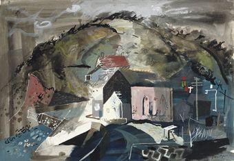 John Piper Portholland, Cornwall