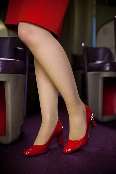 """Virgin Atlantic """"Dorothy and Dotty"""" shoes for cabin crew."""