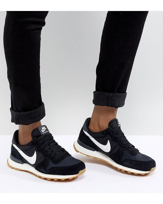 2b8b8db6b6ccf Women's Internationalist Nylon Trainers In Black And White in 2019 ...