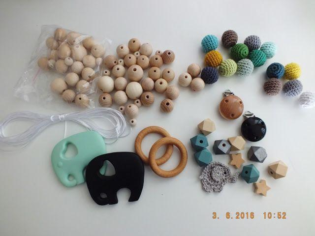 KeXundKrümel: DIY Schnullerketten und Spielzeug aus Holzperlen