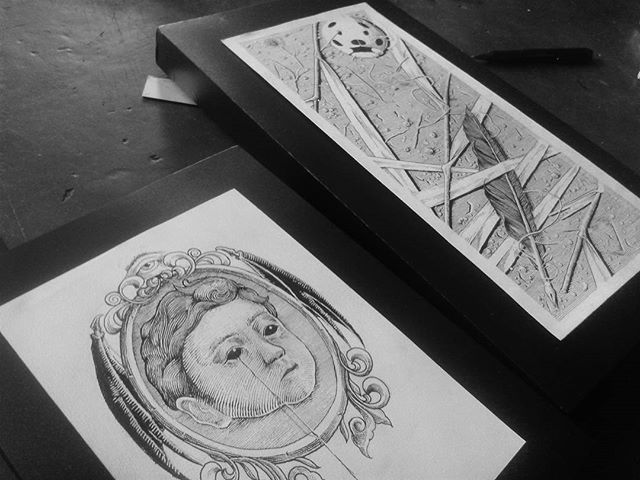 sampai jumpa di gelarkarya  #framed #simply #blackwork #illustration #cult #artwork