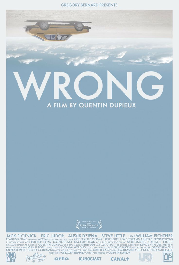 Wrong (2012) movie poster. Great idea.