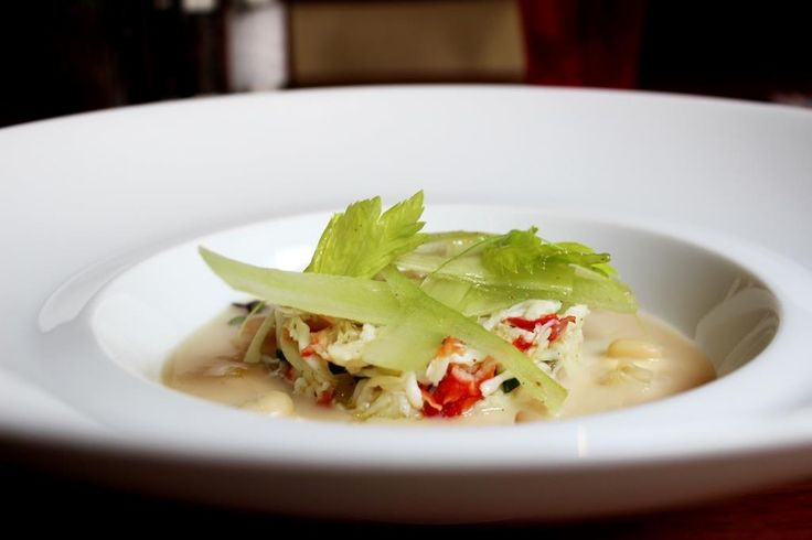 Crab with white beans passatina, parmesan cheese, lemon and thyme