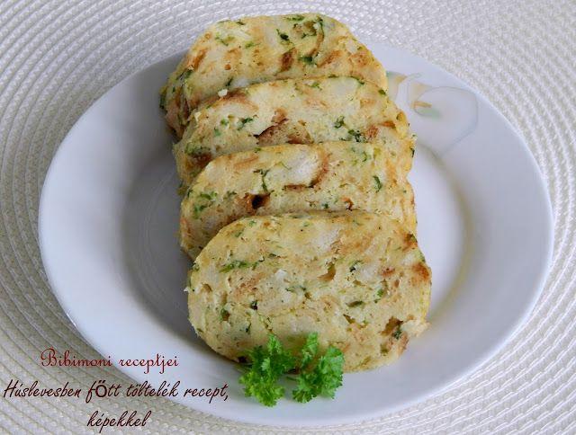 Húslevesben főtt töltelék recept