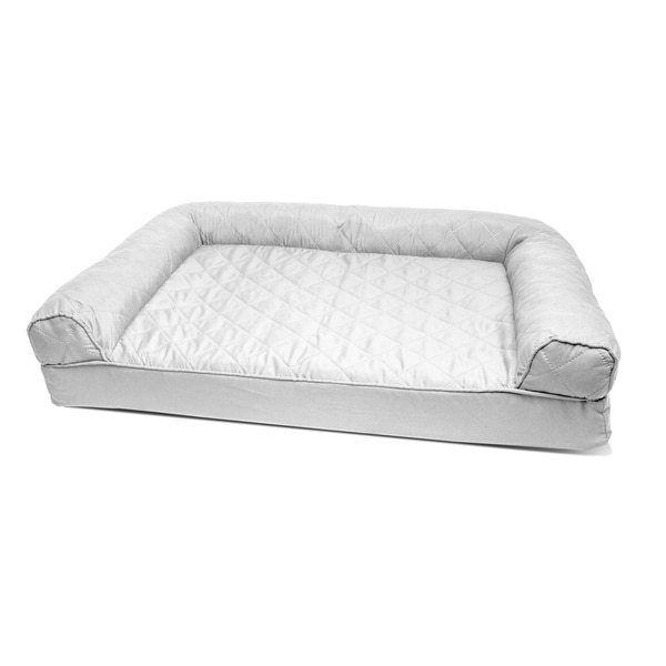 Medium Silver Sofa Pet Dog Cat 3 Walls Bed New Free Shipping