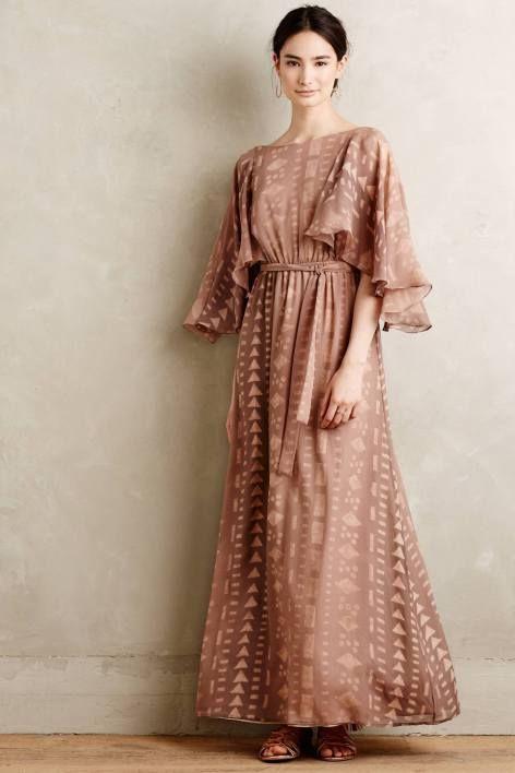 Silk Kimono Maxi Dress by Korovilas