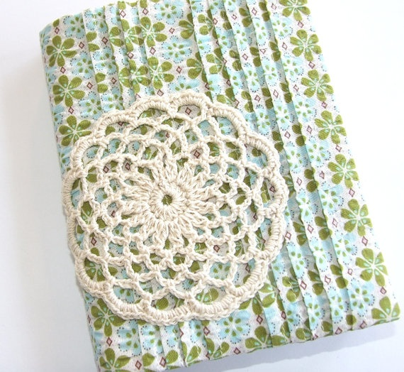 Green Blue Floral Seersucker Visual Journal Slip by iheartcharlie, $35.00