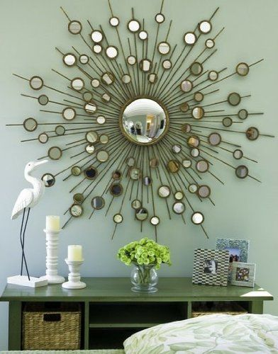 Large Contemporary GOLD Mirror Modern Convex Home Decor Source