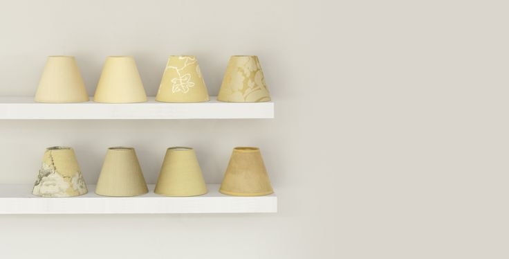 This is our collection of yellow candle shades. Why not mix and match in your home?