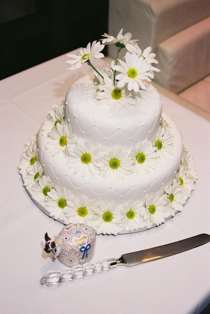 daisy wedding cake ♥