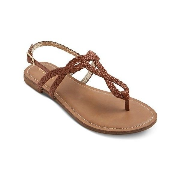 Women's Esma Braided Sandals ($16) ❤ liked on Polyvore featuring shoes, sandals, braided shoes, braided sandals, woven sandals and woven shoes