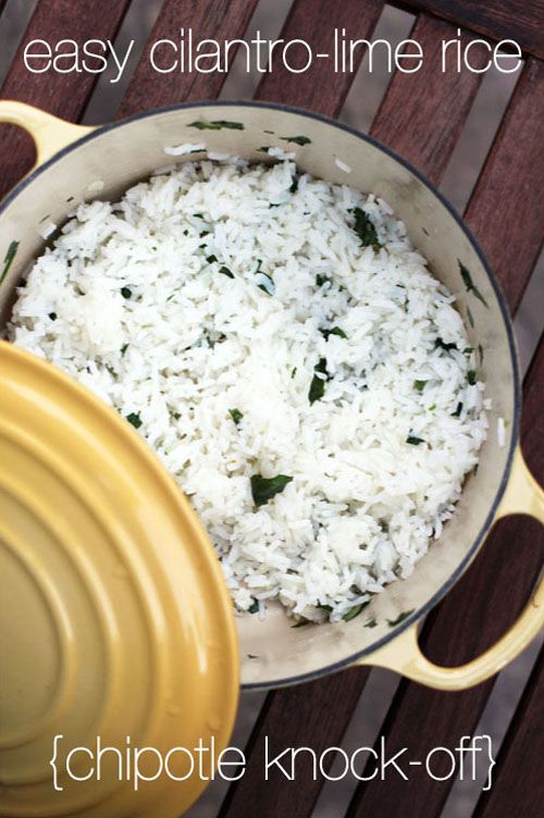 easy cilantro-lime rice | chipotle knock-off | from @Jane Izard Maynard at thisweekfordinner.com