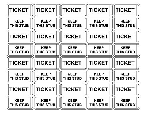printable admission tickets without numbers