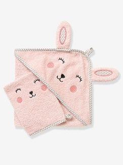 17€99 Cape de bain bébé à capuche brodée animaux  - vertbaudet enfant