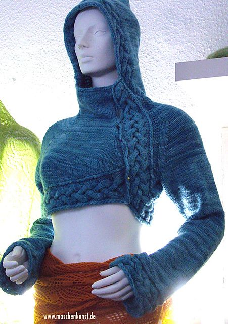Ravelry: Project Gallery for #09 Green Iiris / Cropped Hoodie pattern by Mari Muinonen / tikru