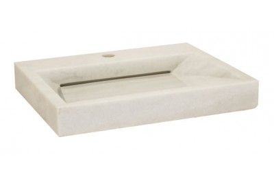 Square Marble Sink : Lenova SV-60 White Marble Square Stone Sink Above Counter 21 1/2 X 17 ...