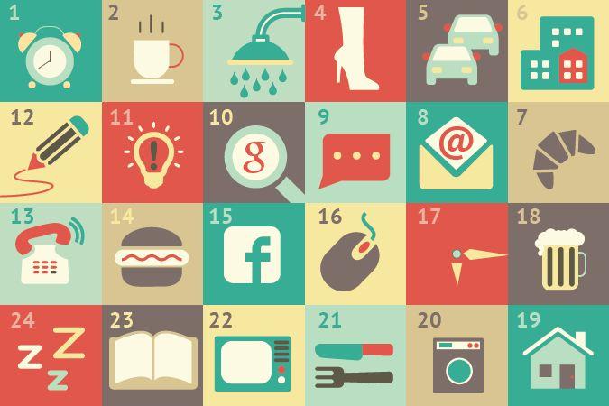 """#Grafica Lab1919  """"La mia giornata ad #icone!"""" Raccontare attraverso l'uso delle #immagini."""
