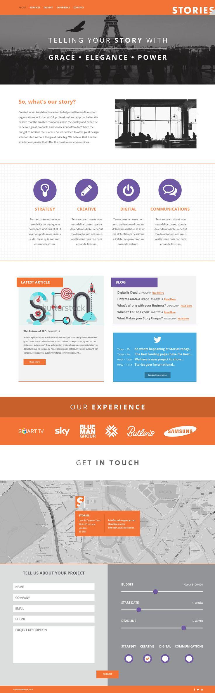 Stories Agency #Flat #WebDesign by #YellowDNA