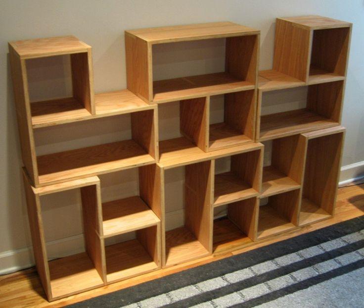Furniture, The Stackable Shelves Wood: The Stackable Shelves to Arrange  Your Books - Best - Stackable Bookshelves IDI Design