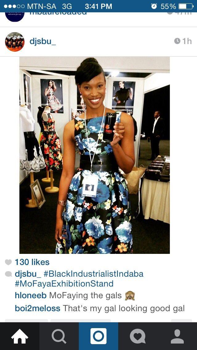 Our Beautiful Tumi at  #BlackIndustrialistsIndaba - Thanks for the photo @DJSbu_