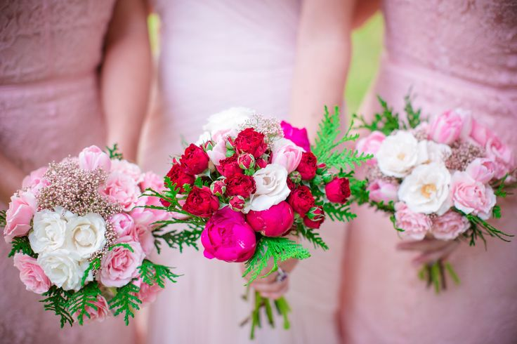 Bridesmaid and Maid of Honor bouquets by Eclectic Sage. Photography: Dana Cubbage Weddings - danacubbageweddings.com   Read More: http://www.stylemepretty.com/2015/02/27/winter-victorian-romance-wedding-inspiration/