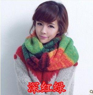 Корейский осенью и зимой 2016 года женщин вязаные шерстяной шарф хеджирования зимние женские шарфы корейской версии длинных толстых воротников свободной перевозкой груза