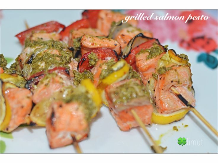 Grilled Salmon Pesto #homemadecooking  #yuummm #salmon