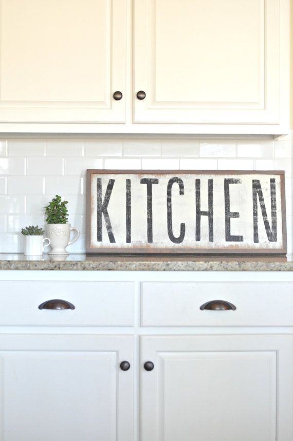 Kitchen Sign by BetweenYouAndMeSigns on Etsy