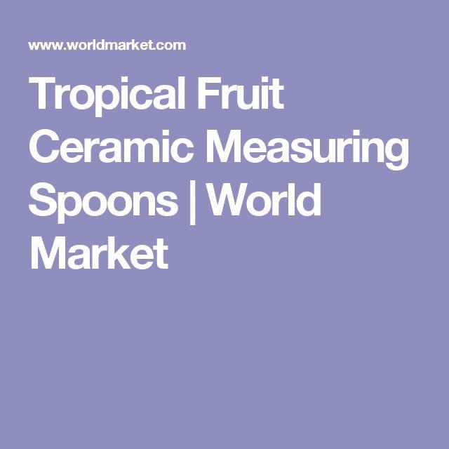 Tropical Fruit Ceramic Measuring Spoons | World Market