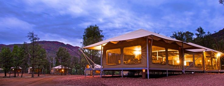 Our Deluxe Eco Tent located at Wilpena Pound, Ikara Flinders Ranges National Park ... Ultimate Glamping Experience