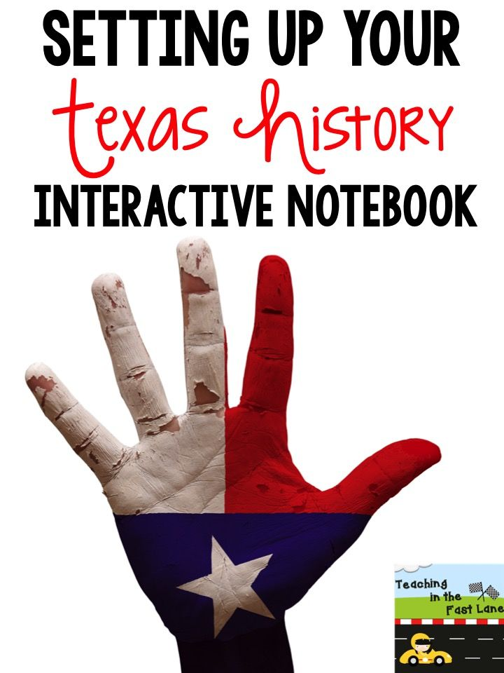 Teaching In The Fast Lane: Setting Up Your Texas History Interactive Notebook