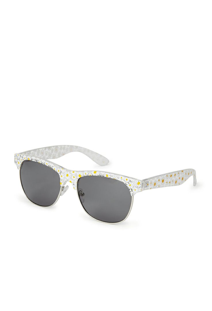F3596 Daisy Rectangle Sunglasses | FOREVER21 #Sunnies #Accessories #MustHave