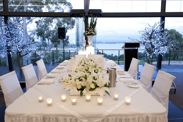 Bridal table with a view at Frasers State Reception Centre, Kings Park www.touchedbyangels.com.au