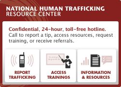 National Human Trafficking Resource Center - online training and webinars