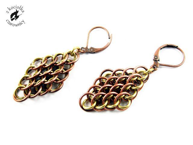 Z kociołka czarownicy: Smocze gniazdo - Dragonscale earrings