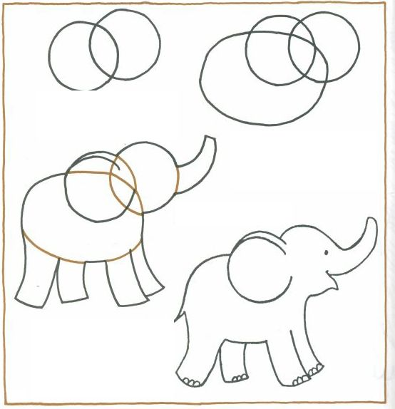how to draw an elephant for kids step by step | Draw an elephant- step by step | IndianHinduBaby